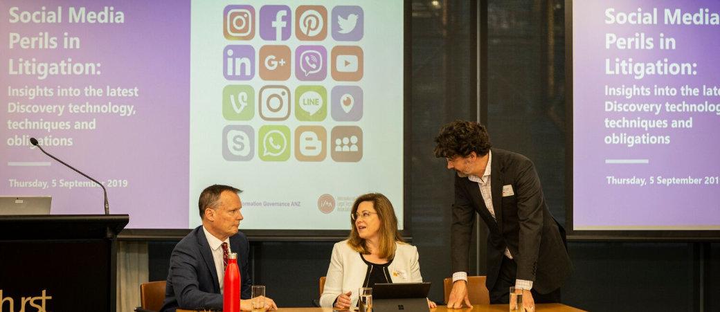 InfogovANZ social media perils event