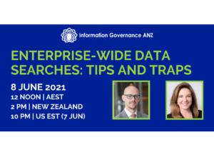 Enterprise data searching for recording